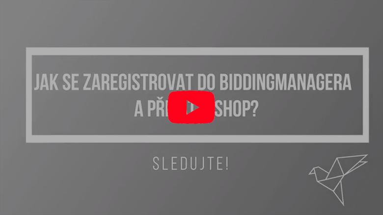Jak se zaregistrovat do BiddingManageru