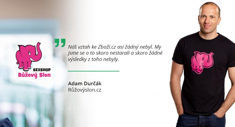 Co říká Adam Durčák z Růžovýslon.cz o inzerci na Zboží.cz