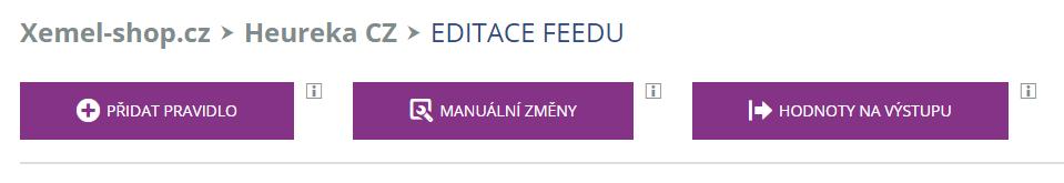 Editace feedu