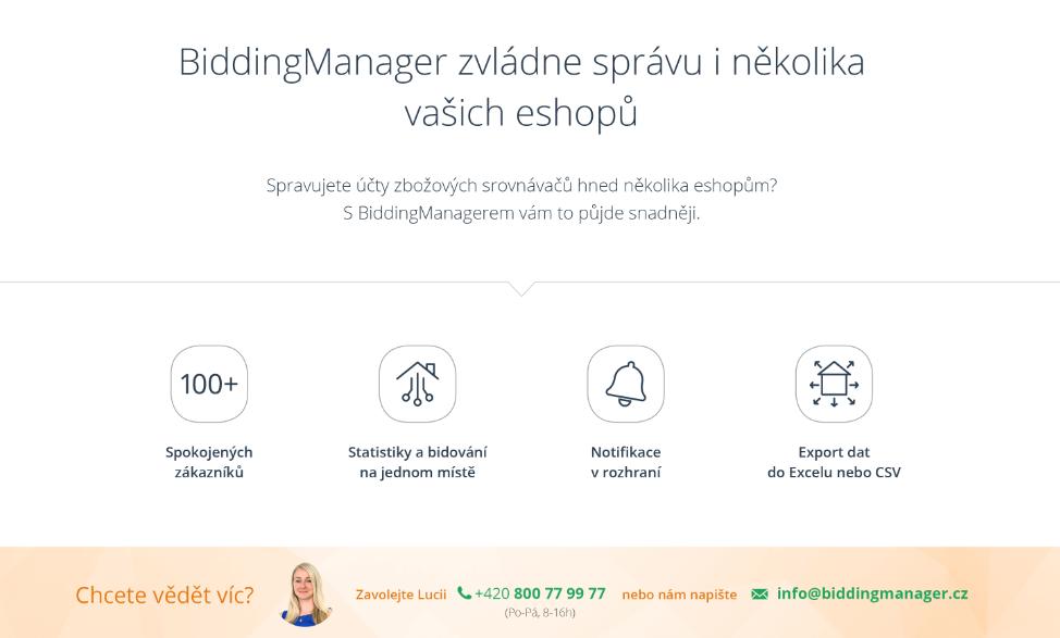 Konkurenční výhody Bidding[Manageru]