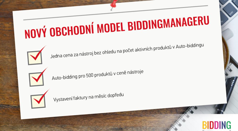 Nový obchodní model BiddingManager